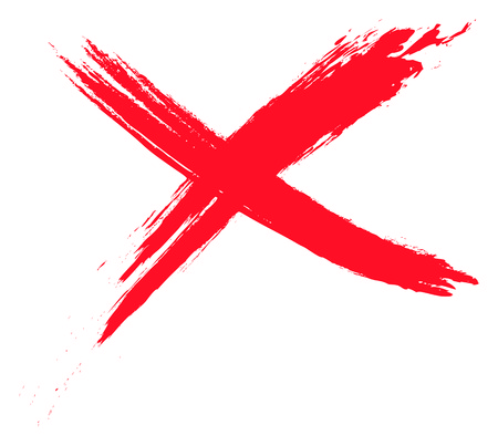 An image of a grunge red cross