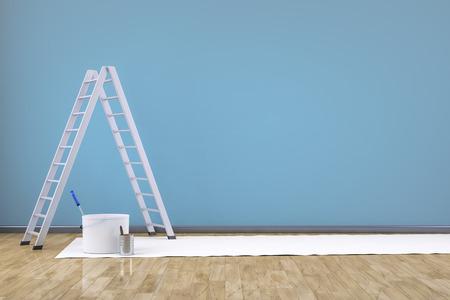 3 d レンダリングのはしごの部屋を更新します。