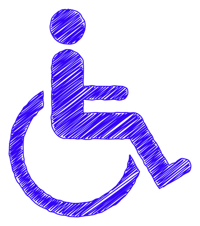 accessibility: A scribble image of a mobility accessibility sign