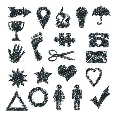 scribble: An image of some usefull scribble signs