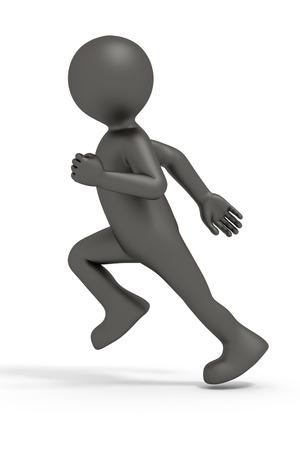 running man: An image of a nice little man running Stock Photo