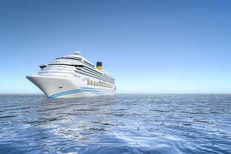An image of a nice ocean cruise ship