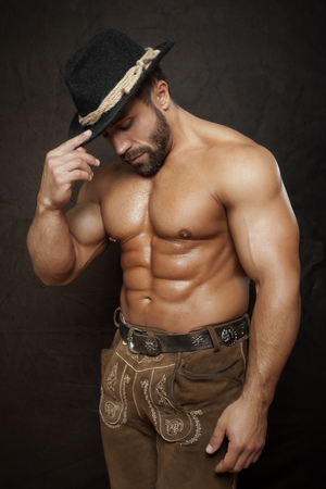 man style: An image of a traditional bavarian muscle man