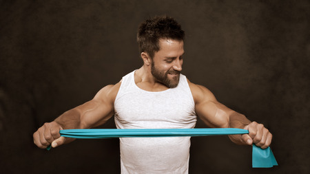 An image of a handsome young muscular sports man Stock Photo