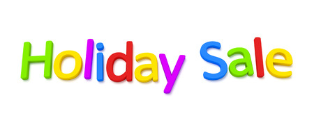 fonts 3d: A colourful holiday sale 3D image