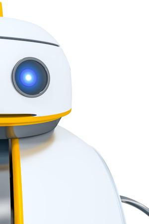 detail: A sweet little robot head detail background Stock Photo