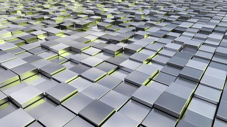objetos cuadrados: Una imagen de fondo de algunos cubos metálicos de plata