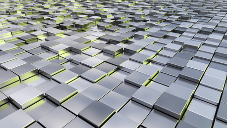 A background image of some silver metallic cubes Archivio Fotografico