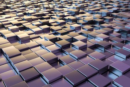 black block: Una imagen de fondo de algunos cubos met�licos de color p�rpura Foto de archivo