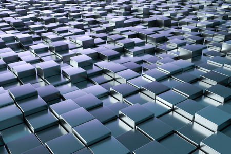 metallic background: A background image of some blue metallic cubes