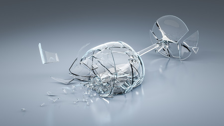 broken glass: An image of a broken wine glass