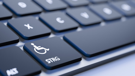 disabled sign: A black keyboard with a disabled sign