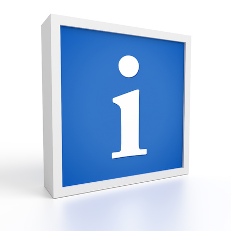 information symbol: An image of a blue information symbol Stock Photo