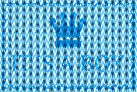 its a boy: it�s a boy text blue fabric illustration