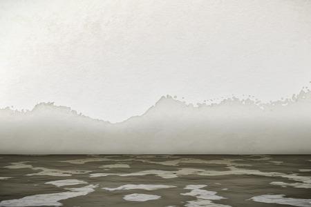 Een 3D-weergave van een interieur waterschade