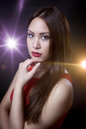 sexy fashion: An image of an asian beauty girl Stock Photo