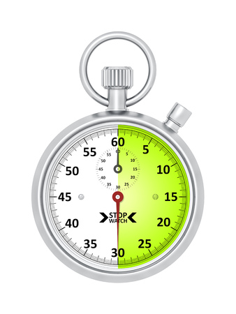 An image of a typical stopwatch 30 seconds Banco de Imagens