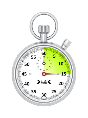 An image of a typical stopwatch 15 seconds Banco de Imagens