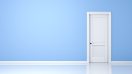 A wall and a door in an empty flat with space for your content Archivio Fotografico