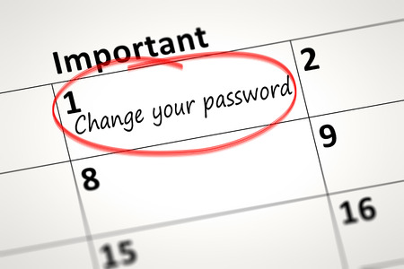 the detail: calendar detail shows change your password every month