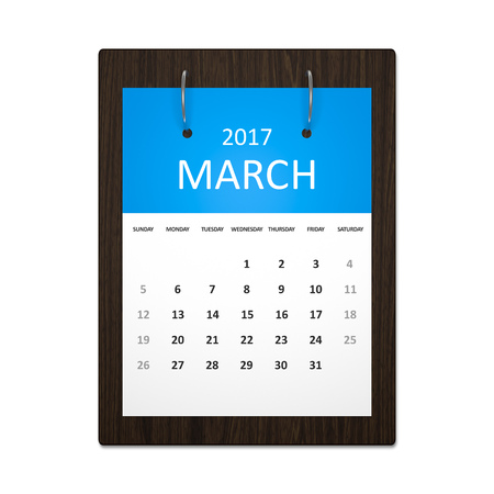 event planning: An image of a stylish calendar for event planning 2017 march