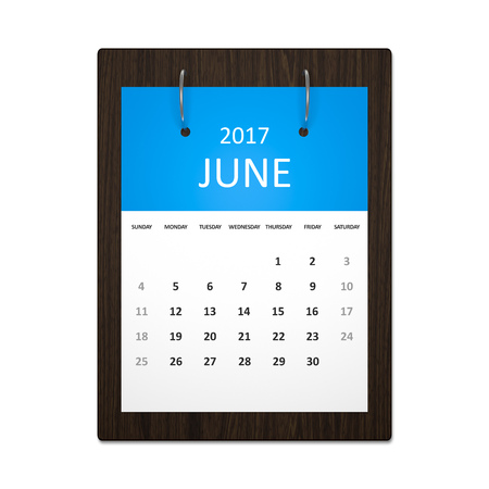 event planning: An image of a stylish calendar for event planning 2017 june