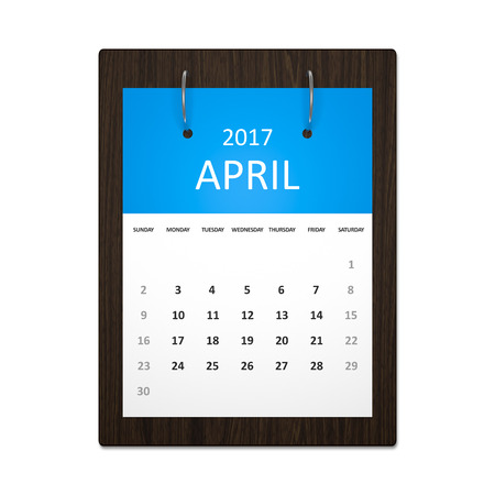 event planning: An image of a stylish calendar for event planning 2017 april