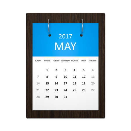 event planning: An image of a stylish calendar for event planning 2017 may
