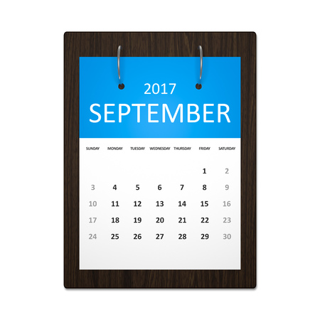 event planning: An image of a stylish calendar for event planning 2017 september