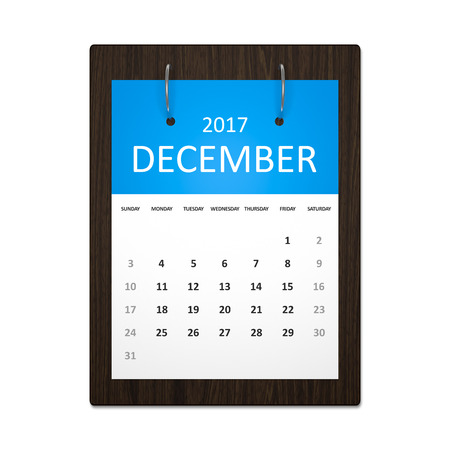 event planning: An image of a stylish calendar for event planning 2017 december