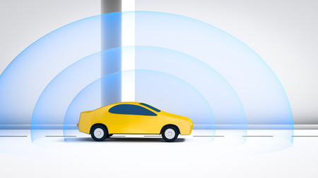unmanned: An image of a connected automotive car Stock Photo