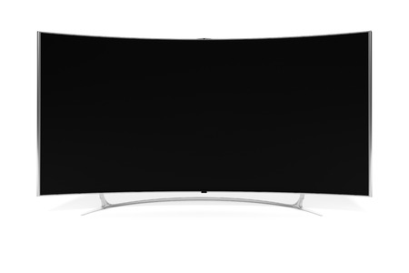 telecommunications technology: An image of a big curved widescreen television