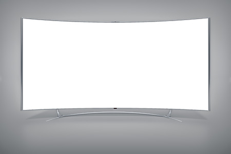 lcd tv: An image of a big curved widescreen television