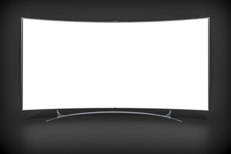 curved: An image of a big curved widescreen television