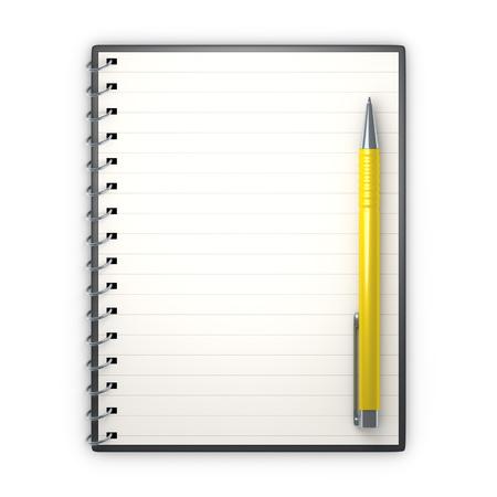 ballpen: An image of a notepad and a ballpen