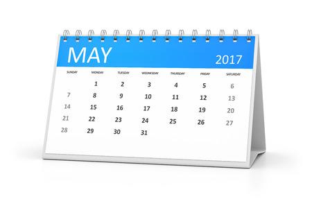 desk calendar: A blue table calendar for your events 2017 may