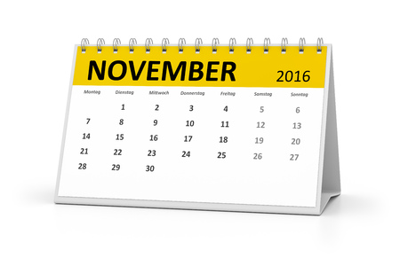 table calendar: A german language table calendar for your events 2016 november Stock Photo