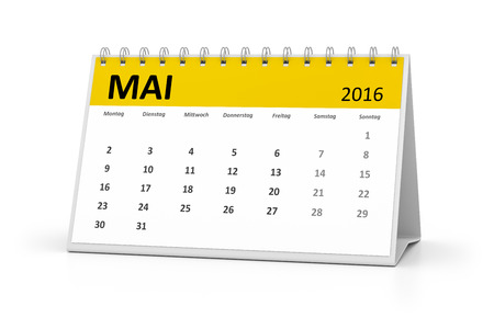 table calendar: A german language table calendar for your events 2016 may Stock Photo