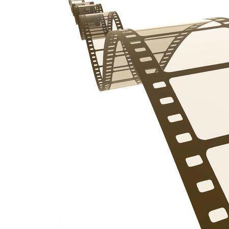 render: An image of a vintage film strip background