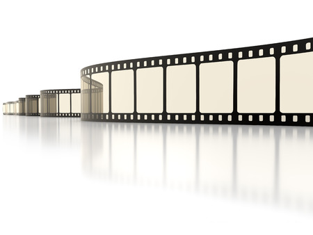 rollo pelicula: Una imagen de una tira de película de fondo de la vendimia Foto de archivo