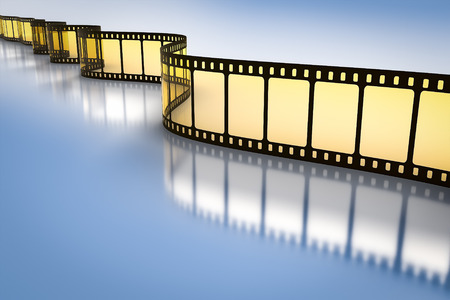 filmroll: An image of a vintage film strip Stock Photo