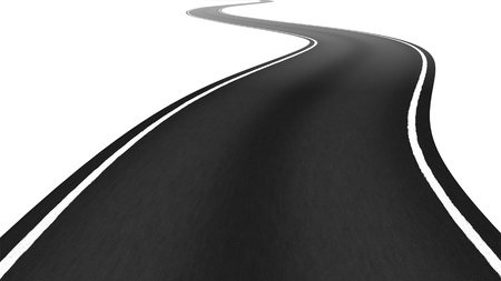 tar: An image of a winding road to the horizon Stock Photo