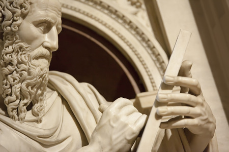 apostle: An image of a statue from Apostle John in Loreto Italy Stock Photo