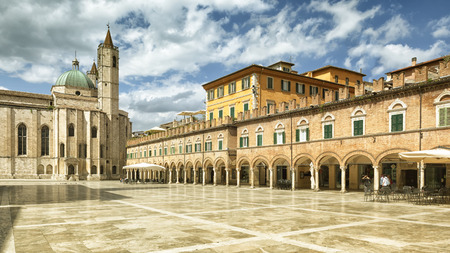 An image of the Piazza del Popolo in Ascoli Piceno Italy