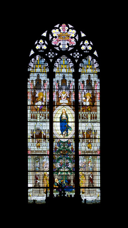 church window: An image of a church window from Italy Stock Photo