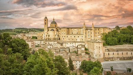 urbino: An image of Urbino Marche Italy at evening time