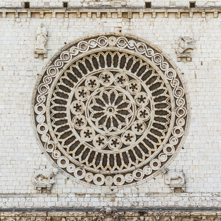 religious building: An image of the window rose from Assisi