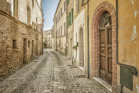 hdri: An image of a typical italian city street