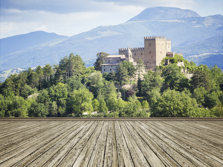 wall mural: An image of a photo mural italy castle Editorial