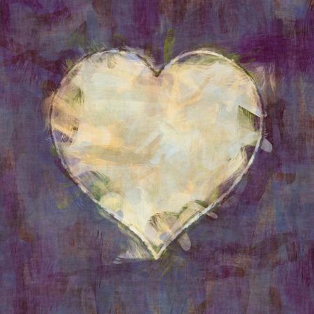 heartache: 2D illustration of an abstract haert brush strokes background